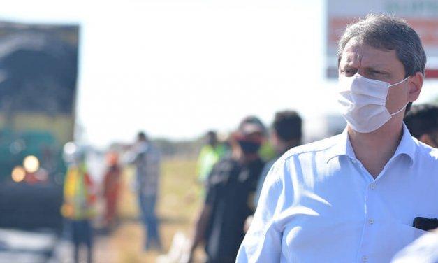 Tarcísio vai visitar obras do Contorno de Florianópolis antes de ir para motociata de Chapecó
