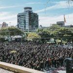 Contra a reforma da previdência, policiais civis mostram força na Alesc