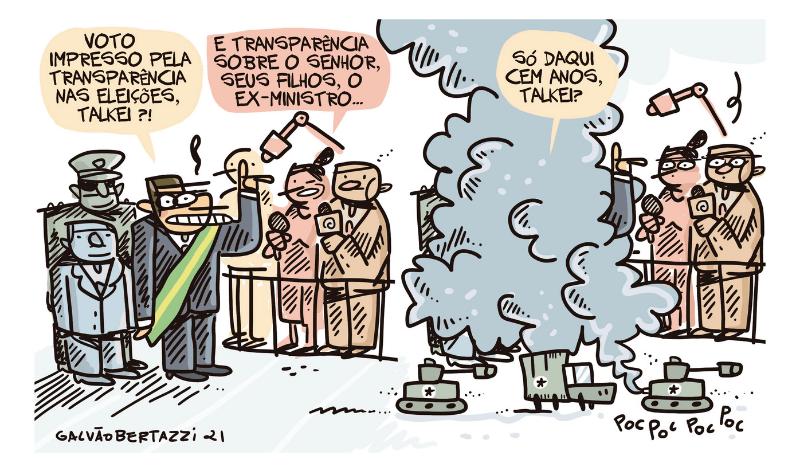 Charge do Galvão – Voto impresso