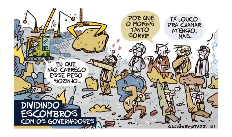 Charge do Galvão – Dividindo escombros