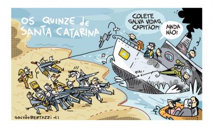 Charge do Galvão – Bancada Catarineta